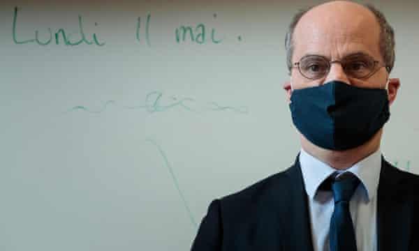 Jean-Michel Blanquer visiting a school in Paris last week.