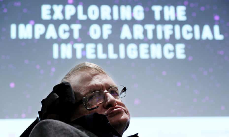 Stephen Hawking at the opening of the Leverhulme Centre for the Future of Intelligence on Wednesday.