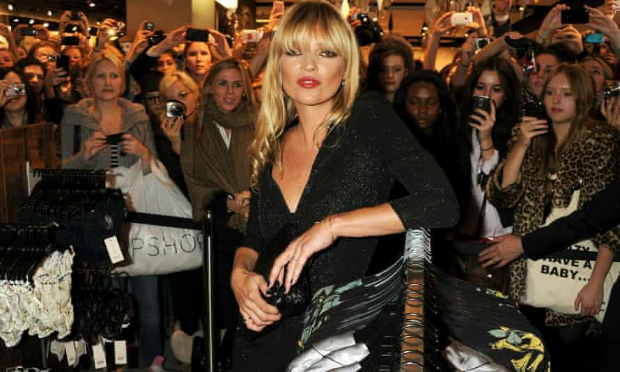 Kate Moss at Topshop.