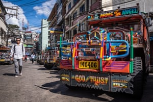 A jeepney waits for departure at Baguio (North Luzon)