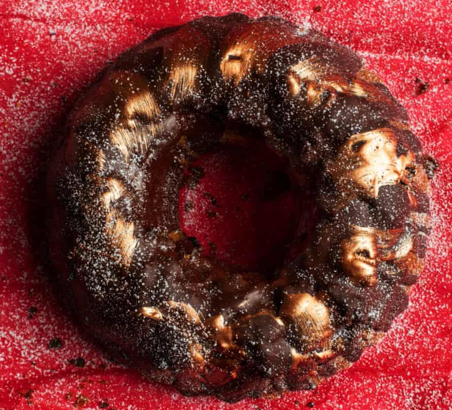 'I like to offer all comers a treat': chocolate hazelnut bundt cake.