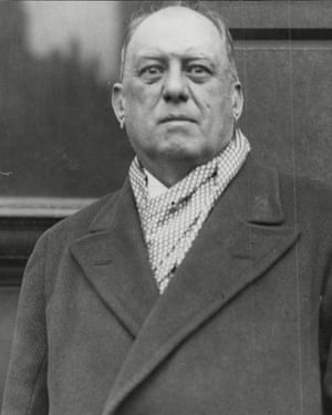 The occultist Aleister Crowley
