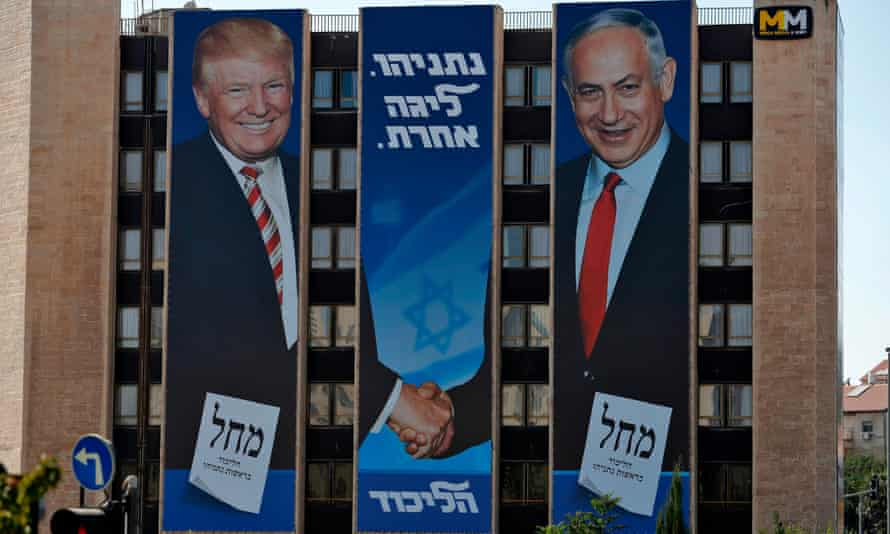 Benjamin Netanyahu's re-election campaign has been focusing on his ties with Donald Trump.