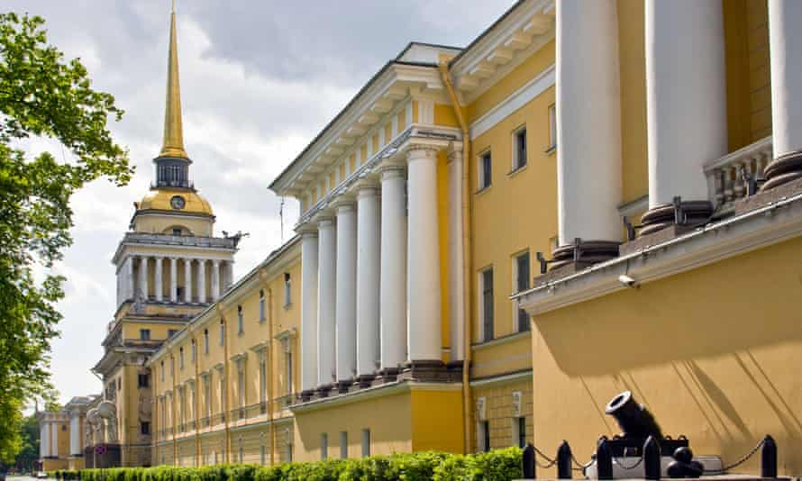 The Admiralty building in St Petersburg,