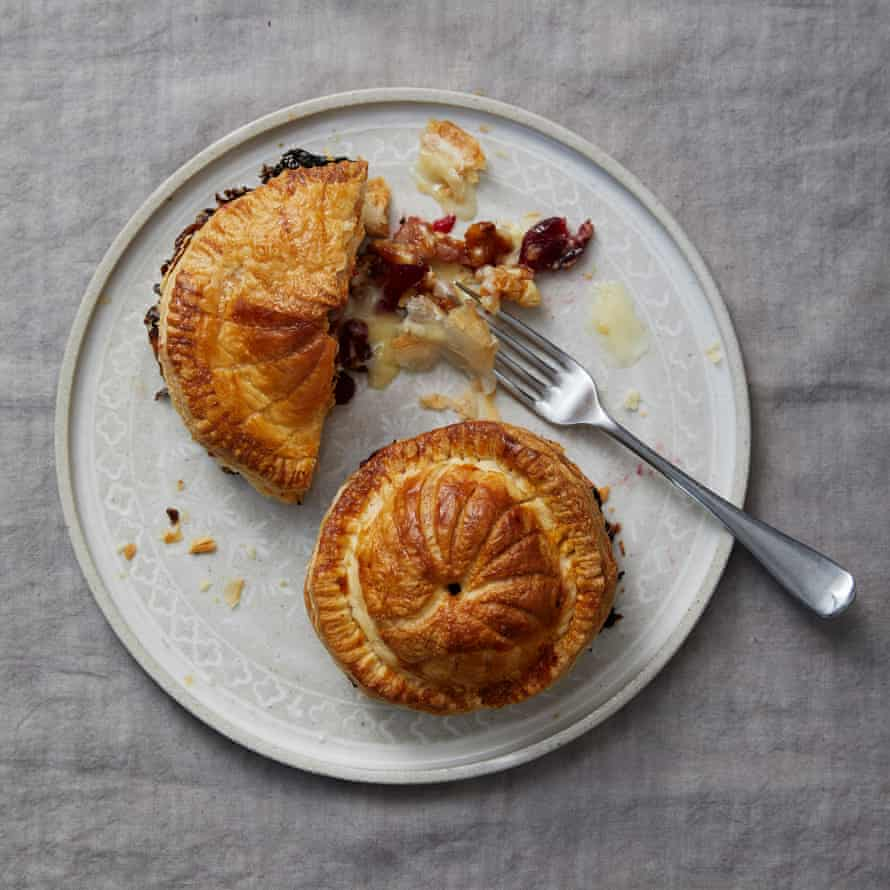 Michael's Chakrevery's camembert, cranberry and walnut pithiviers.