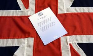 British citizenship oath displayed on a union jack