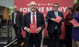 Jeremy Corbyn launches the Labour party's manifesto on Tuesday