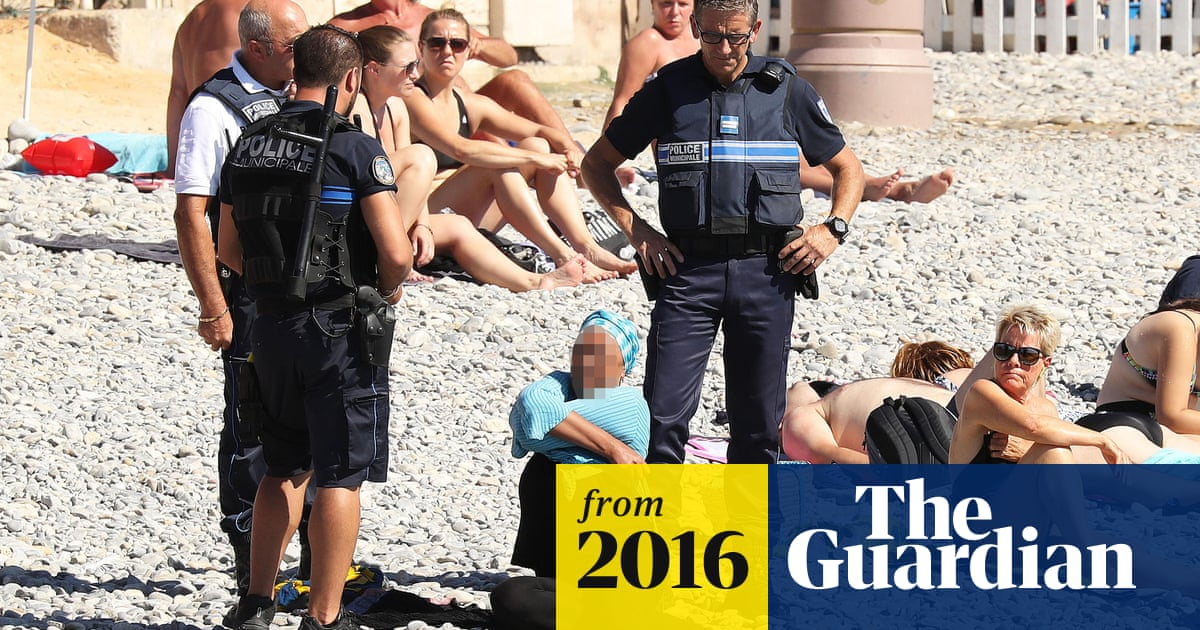 bc67ded1a3e French police make woman remove clothing on Nice beach following burkini ban