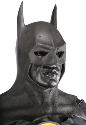 Batman's (Michael Keaton) Batsuit from Tim Burton's superhero film Batman. Estimate: £80,000 - £120,000.