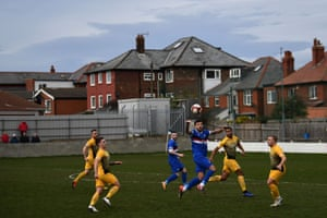 Whitby Town FC play against Basford United in a Northern Premier League game at Turnbull Ground in Whitby.