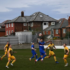 Whitby Town FC playing against Basford United