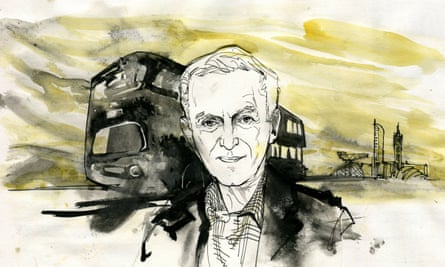 'The morning after publication I drove an early bus out the garage' … James Kelman. Illustration by Alan Vest