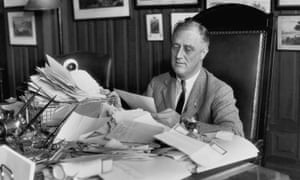 Franklin Delano Roosevelt in 1932: the exception to the rule.