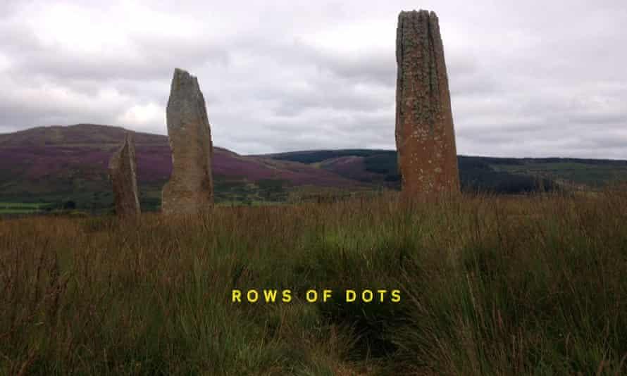 A still from Bridgit: stone menhirs