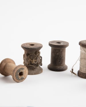 Six cotton reels, some with thread – Hyde Park Barracks: Immigration Depot, 1848-1887.