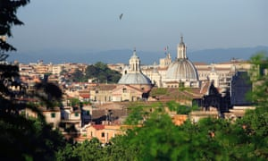Rome from the Janiculum hill.