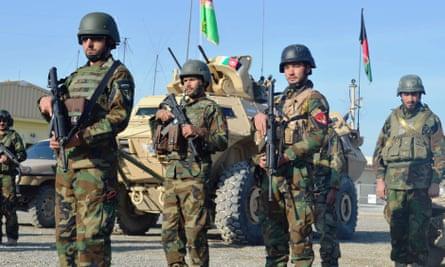 Afghan army soldiers in Kunduz