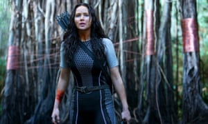 Katniss Everdeen, as portrayed by Jennifer Lawrence in Hunger Games: Catching Fire.