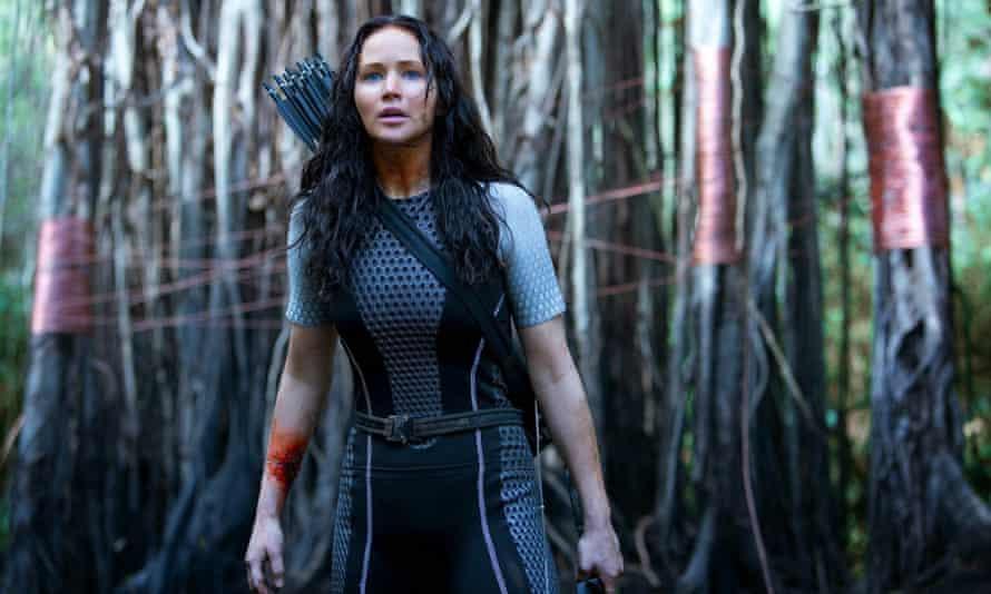 Not-so final fling ... Jennifer Lawrence in The Hunger Games: Mockingjay part 2.