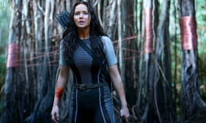 Jennifer Lawrence in the film The Hunger Games.