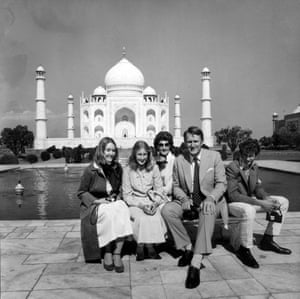 A personal photo of Fraser at the Taj Mahal in India donated by former Australian Prime Minister Malcolm Fraser to University of Melbourne Archives.
