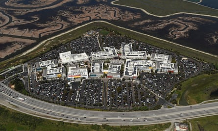 Facebook's 'campus' in Cailfornia. The firm collects up to 98 pieces of data about users of its service.