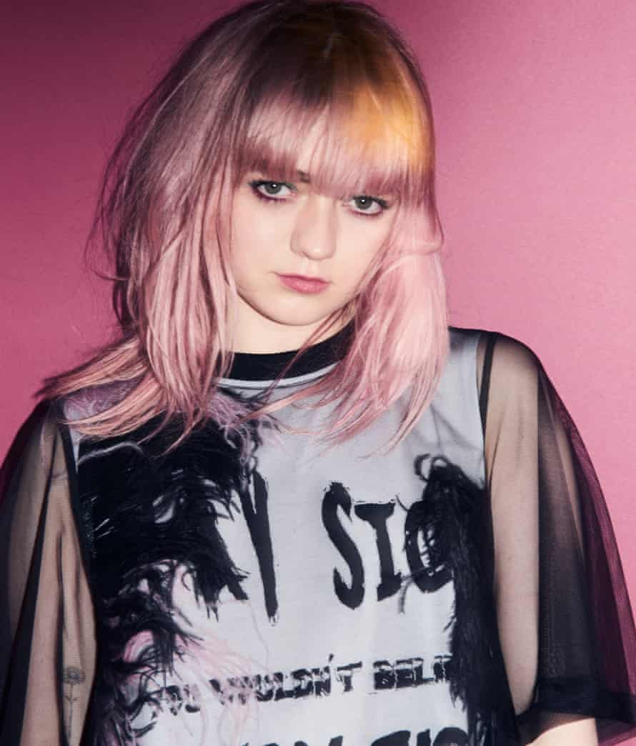 'I sometimes find myself in very grown-up situations': Maisie wears dress by McQ, alexandermcqueen.com.