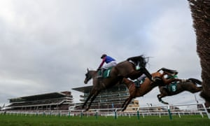Horses jump a fence during January's Join The Betbright Racing Club Handicap Chase at Cheltenham, one of several valuable races the bookmaker sponsored.
