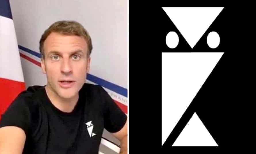 Owl Play Macron S T Shirt Logo Inspires Conspiracy Theories Emmanuel Macron The Guardian