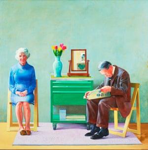 My Parents (1977) by David Hockney