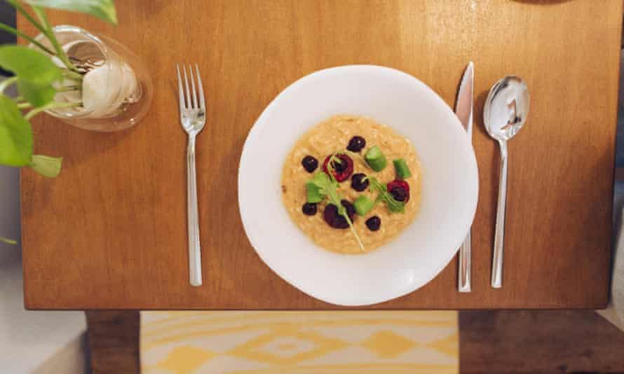 rice with asparagus dish at Vida Meva