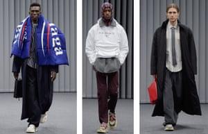 Models at Balenciaga AW17