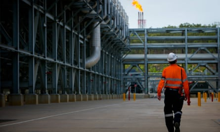 A liquefied natural gas project in Gladstone, Queensland