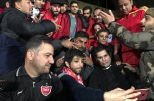 After she entered the Azadi stadium in Tehran, Zeinab took selfies with male football fans who have since become friends.
