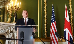 Mike Pompeo during his visit to the UK.