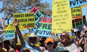 People protest fracking in Western Australia. Photo supplied by Conservation Council of Western Australia