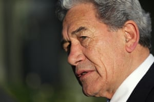 New Zealand foreign minister and deputy prime minister Winston Peters