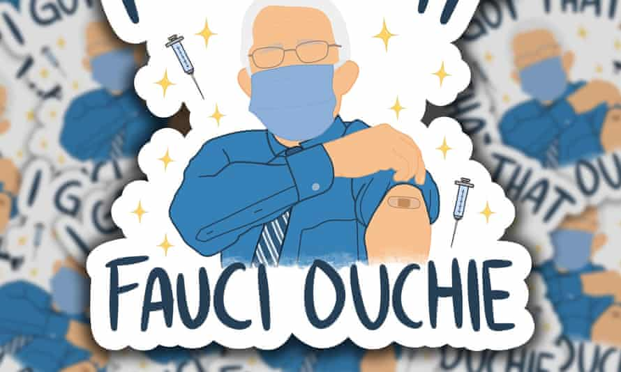 I got that Fauci ouchie sticker.