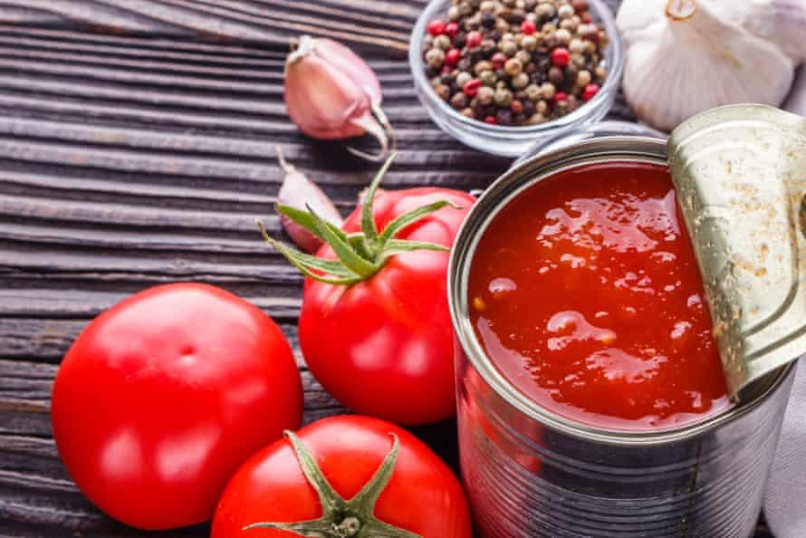اگر در انگلیس خرید می کنید ، گوجه فرنگی حلبی شرط بهتر است.