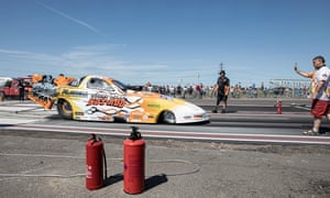 Mark Flavell's Funny Car 7.8 litre recorded the fastest time of the day of 5.41 seconds for the track.