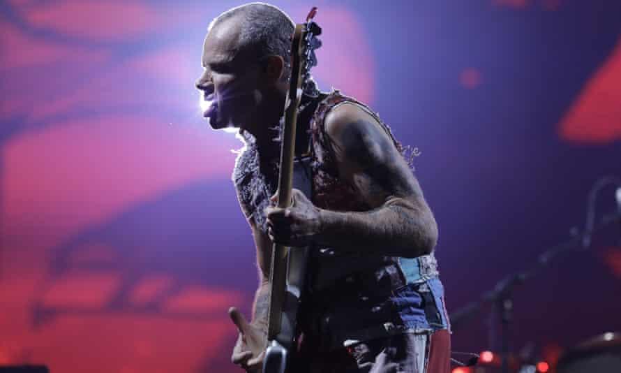 Flea performing in Rio in October 2019.