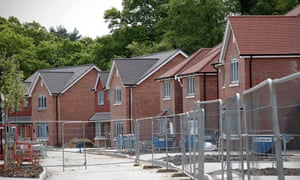 New-build residential homes in Riseley near Reading on May 1, 2020.