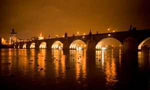 View of the Karluv most (Charles Bridge), Prague by night. Photo by Dan Chung Summer in the City Prague, Czech Republic