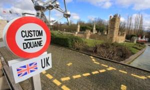 The UK border at Mini-Europe.