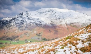 Place Fell from Birks, Ullswater, Lake District.