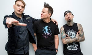 Blink-182 (from left: Matt Skiba, Mark Hoppus and Travis Barker)