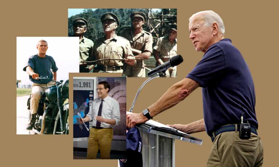 Clockwise from left: Steve McQueen, The Bridge On The River Kwai, Joe Biden, Steve Kornacki