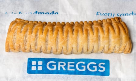 Greggs's bestselling vegan sausage roll.