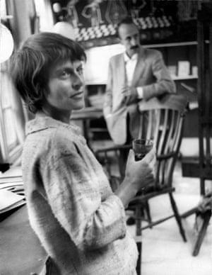 Milein Cosman, with her husband Hans Keller, in her Hampstead studio in the 1960s.