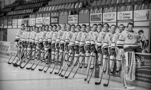 The Humboldt Broncos ice hockey team. Police said 29 people were on the team bus when it crashed on Friday.